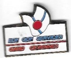 Pin's  Ville, Région, EDF  GDF  GARD  CEVENNES - EDF GDF