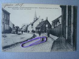 WESTVLETEREN : POPERINGHESTRAAT En Kerk : En 1917 - Poperinge