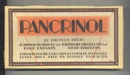 """Boîte En Carton De Médicament """" PANCRINOL """" Du Dct Debat - Laboratoires Christiaens Bruxelles , Ampoules Pour Enfants - Dozen"""