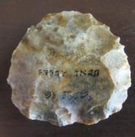 Joli Silex Taillé Provenance Sahara Algérien BENI ABBES - Paléolithique à Néolithique - Diam. Environ 5,5 Cm 63,9 Gr - Archaeology