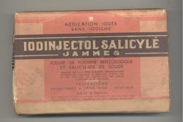 """Boîte En Carton De Médicament """"Iodinjectol Salicylé """" Iodée, Pharmacie - Laboratoires Jammes , - Dozen"""