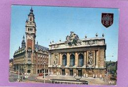 59 LILLE La Place Du Théatre Et La Nouvelle Bourse  Tramway Blason ED :LA CIGOGNE N° : 59 350 267 - Lille