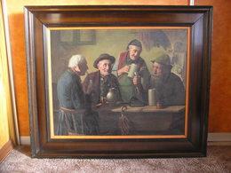 In The Tavern Hein Konig (1891-1971) Germany - Huiles