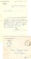 Lettre De L'inspecteur D'académie Des Basses-Pyrénées à L'instituteur D'Eygun (Cette, 64) + Bedous, 1941, Cachet - Documents Historiques