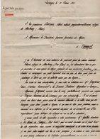 VP14.269 - MILITARIA - Guerre 39 / 45 - Lettre De L'Ex Gendarme A. DORME Réfugié De STRASBOURG à LIMOGES Pour PANAZOL - Polizei