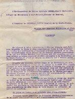 VP14.270 - MILITARIA - Guerre 39 / 45 - Lettre De L'Ex Inspecteur De Police A. DORME Réfugié De STRASBOURG à PANAZOL - Police & Gendarmerie