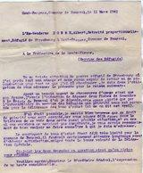VP14.271 - MILITARIA - Guerre 39 / 45 - Lettre De L'Ex Gendarme A. DORME Réfugié De STRASBOURG à PANAZOL - Polizei