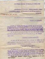 VP14.272 - MILITARIA - Guerre 39 / 45 - Lettre De L'Ex Gendarme A. DORME Alsacien Réfugié De STRASBOURG à PANAZOL - Police & Gendarmerie