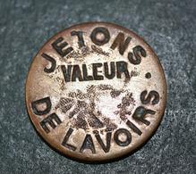 """Jeton De Lavandière Parisienne """"Jetons De Lavoirs - Valeur"""" Paris - Wash-house Token - Monetary / Of Necessity"""