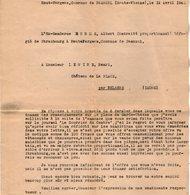 VP14.273 - MILITARIA - Guerre 39 / 45 - Lettre De L'Ex Gendarme A. DORME Alsacien Réfugié De STRASBOURG à PANAZOL - Police & Gendarmerie
