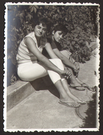 Two Pretty Girls Women Lesbian Ing Gay Old Photo 12x9 Cm #24452 - Personnes Anonymes
