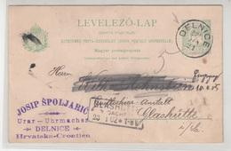 Hungary - Croatia, Josip Špoljarić Watchmaker Postal Stationery Travelled 1902 Delnice To Glashütte (Sachsen) B190110 - Croatia