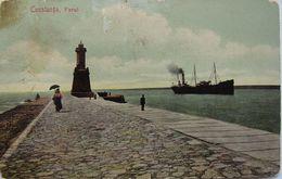 CONSTANTA Lighthouse 1921, Farul Si Vaporul, Ship, Cu 3 Timbre Ploiesti - Roumanie