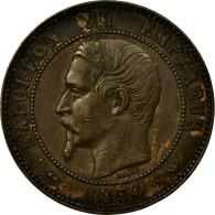 Monnaie, France, 10 Centimes, 1854, Lille, TTB+, Bronze, Gadoury:251, KM:M25 - France
