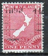 New Zealand 1923 King George V 1d Carmine Stamp. - Unused Stamps