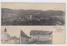 39007863 - Lasberg Bei Freistadt. Totalansicht Kirche Teilansicht Gelaufen Am 02.09.1909. Leicht Stockfleckig, Leichte - Österreich