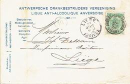 CP/PK Publicitaire ANTWERPEN 1909 - Entête ANTWERPSCHE DRANKBESTRIJDERS VEREENIGING - Antwerpen
