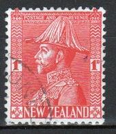 New Zealand 1926 King George V 1d Rose Carmine Stamp. - 1907-1947 Dominion