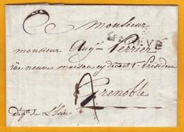 06 07 1817 Marque Postale De GENEVE, Indépendante +, Vers Grenoble, Isère, France - Succession Maysières Viollier - Suisse