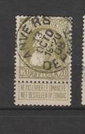COB 75 Oblitéré ANVERS Départ - 1905 Grosse Barbe