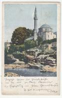 Mostar, Karađoz Bey Mosque Old Postcard Travelled 1904 Mostar To Pale B190110 - Bosnie-Herzegovine