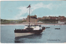 Postcard - Off Scarborough Pier (Crease Down Middle) - Posted - Cartes Postales