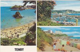 Postcard - Tenby, Pembrokeshire, Wales - 3 Views - Card No. PLC23811 - VG - Cartes Postales