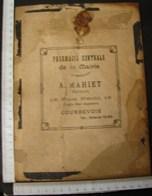 Pu. 71. Carton Avec Publicité De La Pharmacie Centrale De La Mairie. A. MAHIET Place Hérold à Courbevoie. - Publicités
