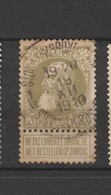 COB 75 Oblitéré ST-GILLES (Bruxelles) - 1905 Grosse Barbe