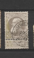 COB 75 Oblitéré SCHAERBEEK (Deux-Ponts) - 1905 Grosse Barbe