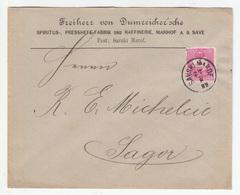Dumreicher Company Letter Cover Travelled 1889 Savski Marof To Sagor (Zagorje Ob Savi) B190110 - Croatia