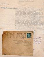 VP14.275 - 1945 - Lettre En Franchise Militaire Gendarme LIONNET à LIMOGES Pour Mr DORME Ex Gendarme à SCHILTIGHEIM - Police & Gendarmerie