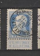 COB 76 Oblitéré BRUXELLES Effets De Commerce - 1905 Grosse Barbe