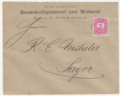 Baumwollspinnnerei Und Weberei Company Letter Cover Travelled 1889 Duga Resa To Sagor (Zagorje Ob Savi) B190110 - Croatia