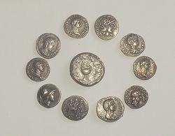 Set Of 11 Antique Coins Roman And Greak_forgery_copy_monnaies Antiques Fausses Monnaies - Imitazioni