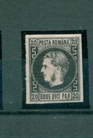 Rumänien, Fürst Karl I, Nr. 16 Y Falz * - 1858-1880 Moldavia & Principality