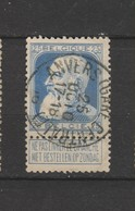 COB 76 Oblitéré ANVERS (Gare Centrale) - 1905 Grosse Barbe