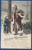 Père Noël Avec Sa Hôte   FRÖHLICHE WEIHNACHTEN  écrite En 1903 - Santa Claus
