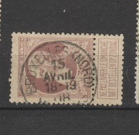 COB 77 Oblitéré BRUXELLES (Nord) Valeurs - 1905 Grosse Barbe