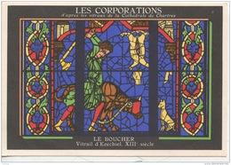METIERS - LES CORPORATIONS LE BOUCHER - VITRAIL D'EZECHIEL  - CHROMO PUB ASPIRINE/ - Non Classés