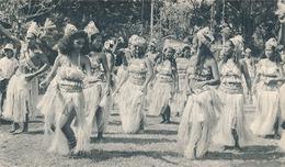 TAHITI - N° IV - DANSEUSES (CARTE PUBLICITAIRE PLASMARINE) (ANNEE 1954) - Tahiti