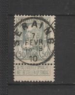 COB 78 Oblitéré SERAING - 1905 Grosse Barbe