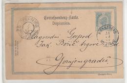 Austria - Slovenia, Postal Stationery Dopisnica Travelled 1900 Mozirje (Prassberg) To Gornji Grad (Oberburg) B190110 - Slovénie