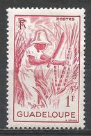 Guadeloupe 1947. Scott #193 (M) Cutting Sugar Cane * - Neufs