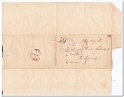 Brief Naar Bunningen Bij Nijmegen, Afstempeling Boxmeer 1853 En Nijmegen ( 5 Maart 1853 ) - Periode 1852-1890 (Willem III)