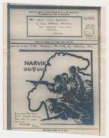 Airgraph GB / UK  - Kenya 1944 ( With Envelope ) Map Norway - Battles Of Narvik - Aardrijkskunde