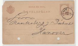 Jacques Neumann Company Pre-printed Postal Stationery Travelled 1882 Fiume Pmk B190110 - Croatia