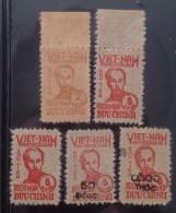 North Vietnam Viet Nam MNH Stamps 1949 - 1954 : Straw Paper / President Ho Chi Minh / Surcharge - Vietnam