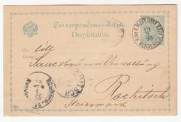 K.u.k. Bosnia, Postal Stationery Dopisnica Travelled 1900 Vlasenica To Rohitsch B190110 - Bosnie-Herzegovine