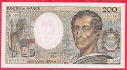 """200 Francs """"Montesquieu"""" 1985 ----VF/SUP---Série B.030 - 1962-1997 ''Francs''"""